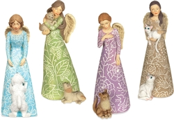 12 Piece Pawsitive Angel Figurine Assortment