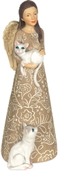 Purrr-fect Angel Pawsitive Angel Figurine