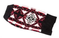 Sweater Wool | Navajo Black and Red Ski Sweater