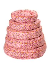 Bed   Canine Styles Moroccan Pink Designer Nesting Dog Beds