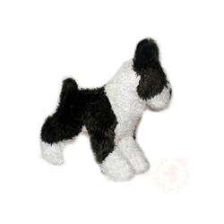 Plush Black & White Boston Terrier Dog Toy - NEW!!