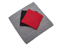 Blanket Cashmere | Canine Styles Cashmere Blanket Gray, Black, & Burgundy