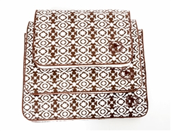 Mat   Canine Styles Watermill Brown Canvas Crate Mat