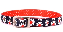 Uptown Black Daisy on Red Polka Dot Collection