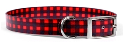 Elements Red Buffalo Plaid Collar