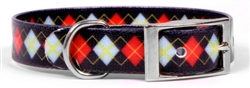Elements Red Argyle Collar