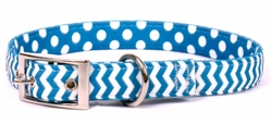 Uptown Chevron Blueberry on Blueberry Polka Collection