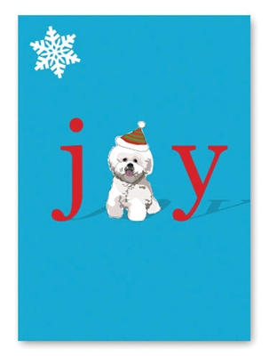 Joy Bichon Holiday Card