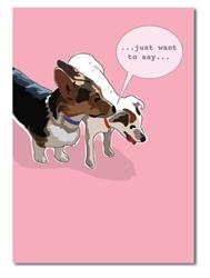 Blank Inside: Corgi whispering to Jack Russell Terrier