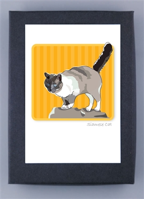 Cat, Siamese - Grrreen Boxed Note Cards