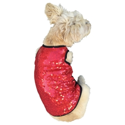 Vixen Red Sequin Tank