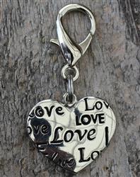Love Heart Dog Collar Charm