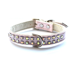 Charlotte Double Row Vegan Dog Collar_Light Pink