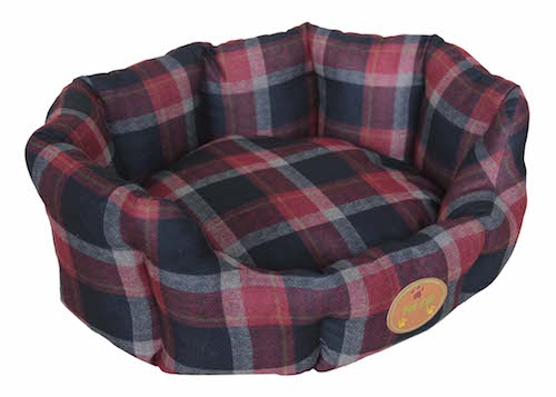 Red Wick-Away Nano-Silver And Anti-Bacterial Water Resistant Round Circular Dog Bed