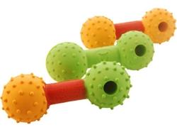 Rubb N Roll Multi-color Treat Dumb Bell