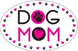 Dog Mom - Oval Magnet