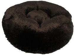 Black Shag Round Bed