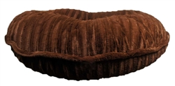Brown Mink Round Bed