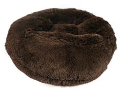 Brown Shag Round Bed