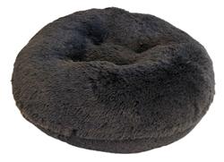 Grey Shag Round Bed