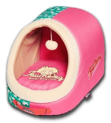 Pink Play Indoor Panoramic Designer Dog Bed