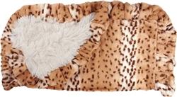Snow Leopard & Cream Shag (w/ Snow Leopard Ruffles) Blanket