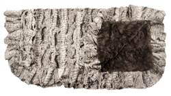 Gator Mink and Grey Mink Ruffled Blanket