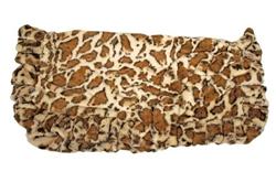 Giraffe Print Ruffled Blanket