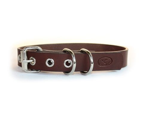 Deluxe Brown Leather Collars