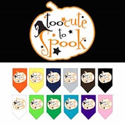 Too Cute to Spook Screen Print Bandana