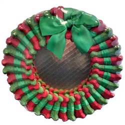 Red & Green Mint Wreath