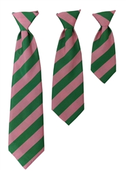 H&K Bruce Long Tie - Pink/Green