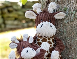 Plush Corduroy Durable Knotties Giraffe