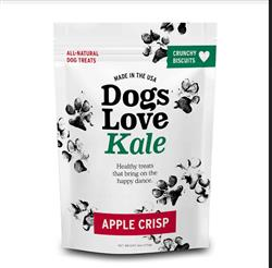 Dogs Love Kale Apple Crisp - Wheat Free 6 oz. Resealable bag