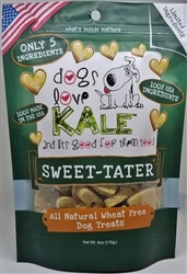 Dogs Love Kale Sweet Tater - Wheat & Grain Free 6 oz. Resealable bag