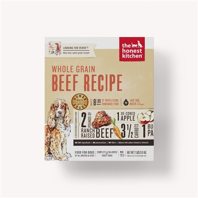 The Honest Kitchen Dehydrated Beef Formula Dog Food (Verve)