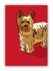 Yorkshire Terrier Standing - Fridge Magnet