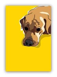 Lab, yellow head down - Fridge Magnet