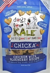 Chicka' (Organic Chicken & Blueberry) Wheat & Grain Free 6oz. Resealable bags