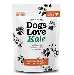 Dogs Love Kale Gobblers (Organic Turkey & Sweet Potato) Wheat & Grain Free 6oz. Resealable bags