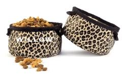Leopard Travel Bowl