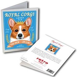 Royal Corgi GREETING CARD (Pembrike Welsh Corgi) 6 cards