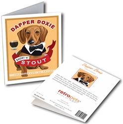 Dachshund - Dapper Doxie GREETING CARD - 6 cards