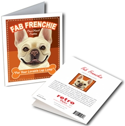 French Bulldog - Fab Frenchie GREETING CARD - 6 cards
