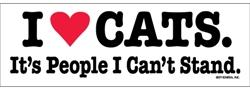I Heart Cats Bumper Magnets