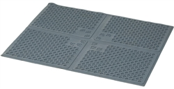 Purr-fect Paws Litter Mat Medium Grey by Petlinks