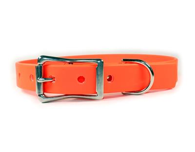 Orange Waterproof Dog Collars & Leads
