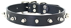 Spiked Leather Collars w/1-Row of Spikes