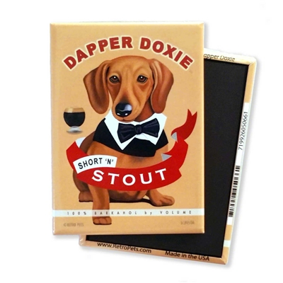 Dachshund - Dapper Doxie MAGNETS