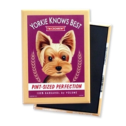 Yorkie Knows Best MAGNETS
